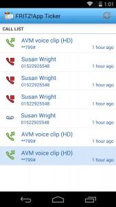 Aplikacja FRITZ!App Ticker na Android